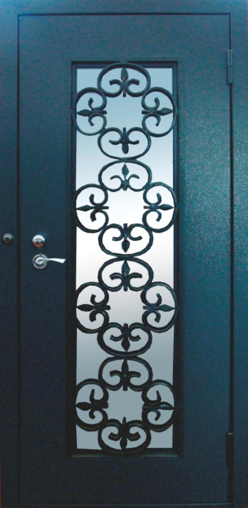 заводские стальные двери с элементами ковки москва